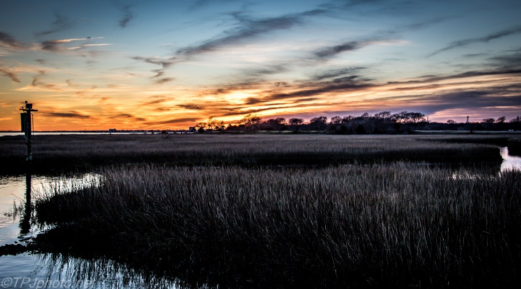 Spring Marsh Sunset - Click To Enlarge