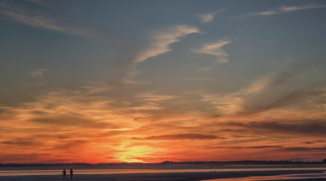 Winter Sunset, Charleston - click to enlarge