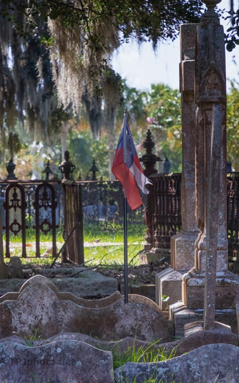 Flag In The Breeze, Cemetery - click to enlarge