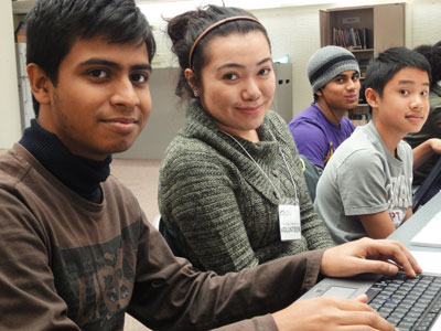 Volunteers provide students with after-school help at the library's Youth Hubs.