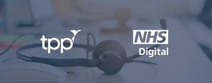 TPP and NHS Digital Logos over background of a phone headset