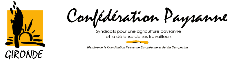 "[""Confederation paysanne de Gironde""]"