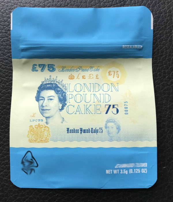 Cookies – London Pound Cake 75 3.5g 8th mylar bags