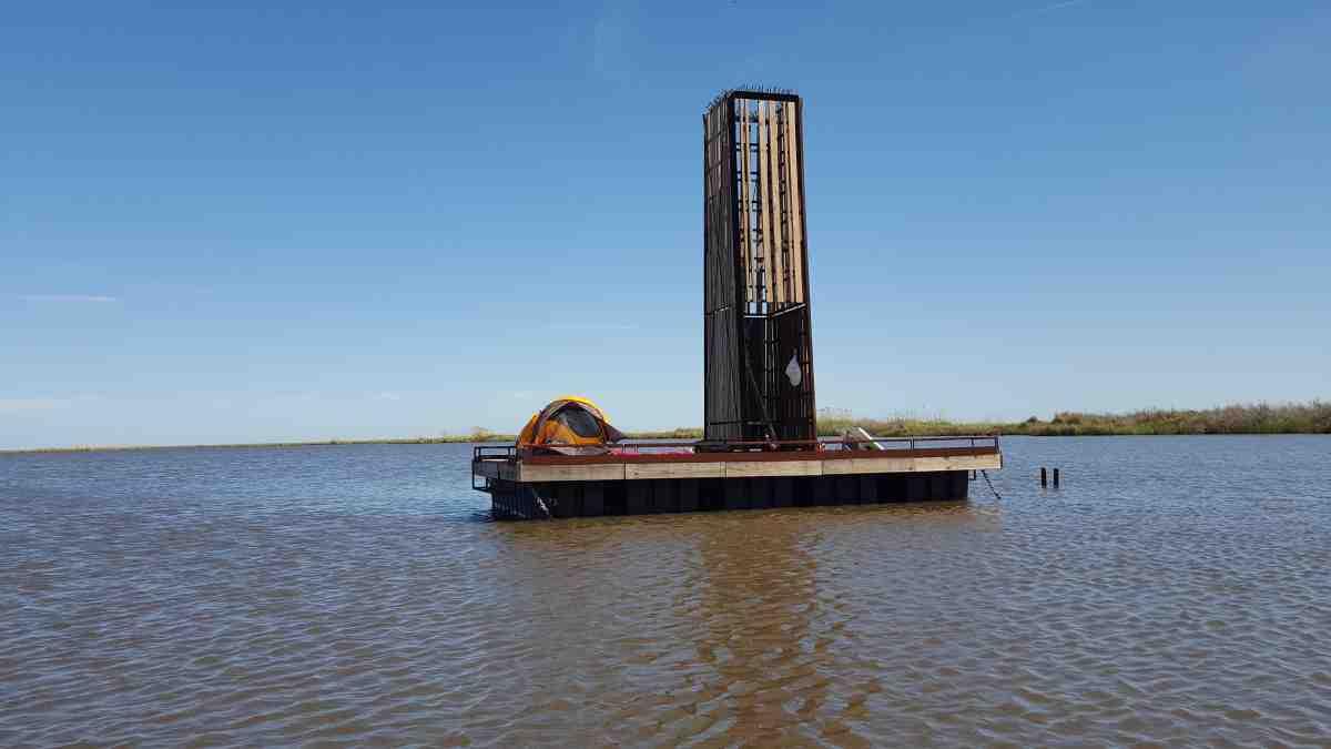 Sea Rim State Park Floating Primitive Campsite Boat In