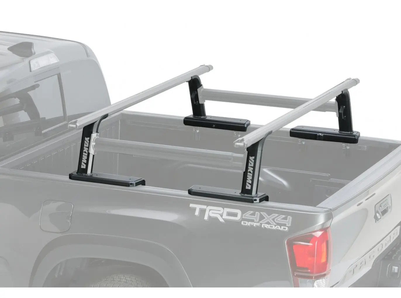 yakima outpost hd mid height heavy duty truck bed rack