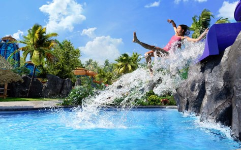 First-ever details revealed for Universal's Volcano Bay, including Ohno Drop Slides - two twisting, adrenaline-pumping slides that launch you four- or six-feet above the water at the end.