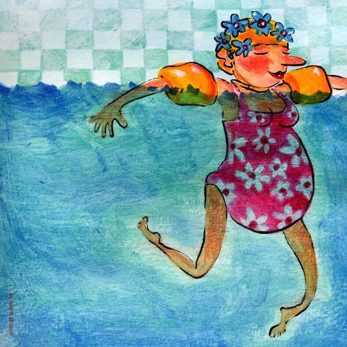 Cartoon: bun in the oven (medium) by siobhan gately tagged swimming,pregnant,pregnancy,women,relaxing,illustration,schwimmen,freischwimmer,frau,frauen,entspannung,wasser,pool,schwimmbad,training,fitness,körper,schwangerschaft,schwanger,mutter,mutterschaft,baby,nachwuchs