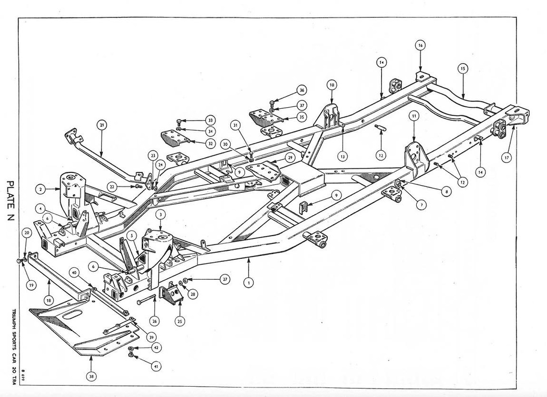 Triumph Tr4a Chassis Diagrams Pictures Specification