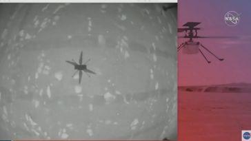 L'hélicoptère Ingenuity a volé sur Mars, c'est le premier vol d'un engin motorisé sur une autre planète