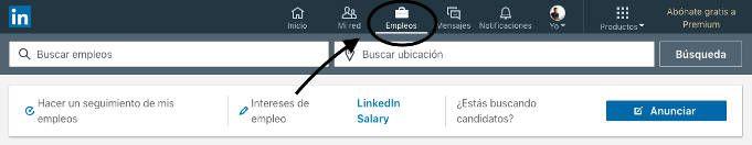 Buscar ofertas de trabajo con LinkedIn