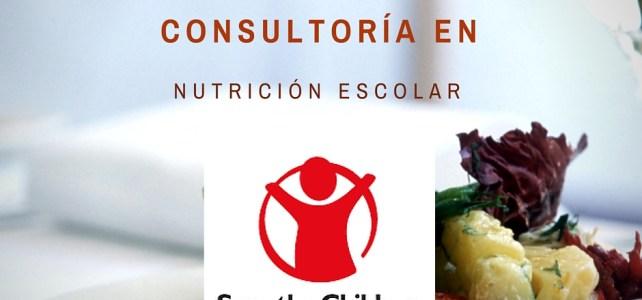Save the Children Lanza Convocatoria: Consultoría en Nutrición Escolar