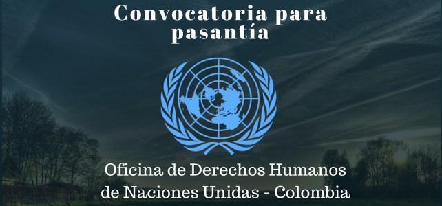 Pasantía con la Oficina de Derechos Humanos de la ONU en Colombia