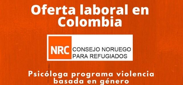 El Consejo Noruego para Refugiados busca psicóloga en Colombia