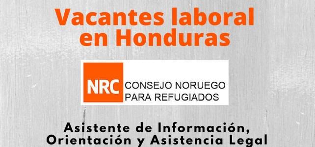 El Consejo Noruego para Refugiados abre vacante laboral en Honduras