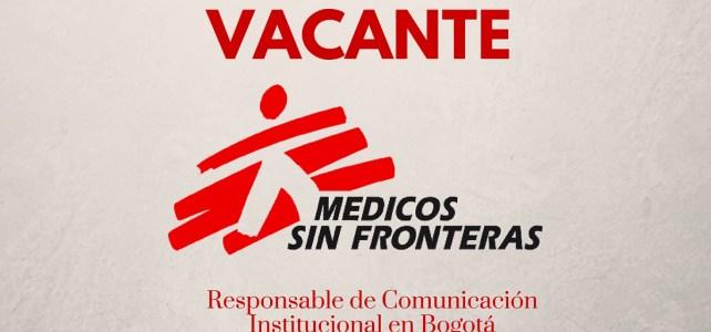 Trabaja con Médicos sin Fronteras en Colombia