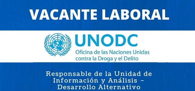 Vacante con la Oficina de las Naciones Unidas contra la Droga y el Delito (UNODC)