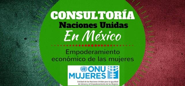 Consultoría con ONU Mujeres en México: empoderamiento económico de las mujeres