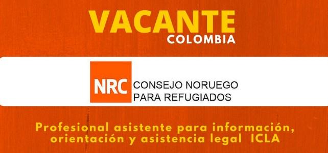 Oportunidad laboral con el Consejo Noruego para Refugiados en Colombia