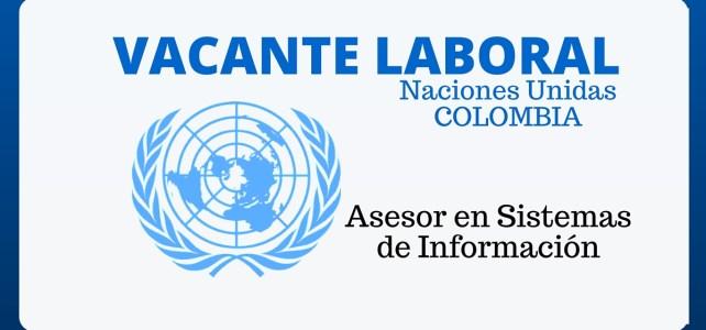 Oportunidad laboral con Naciones Unidas: Asesor en sistemas de información