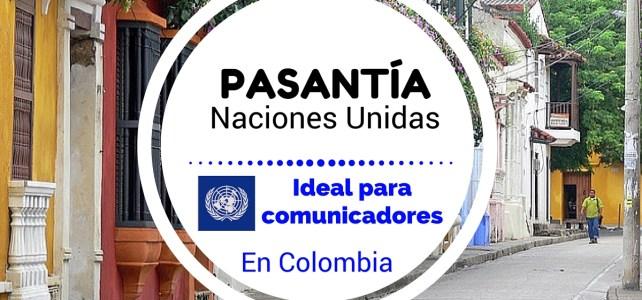 Pasantía laboral con el PNUD – Naciones Unidas en Colombia