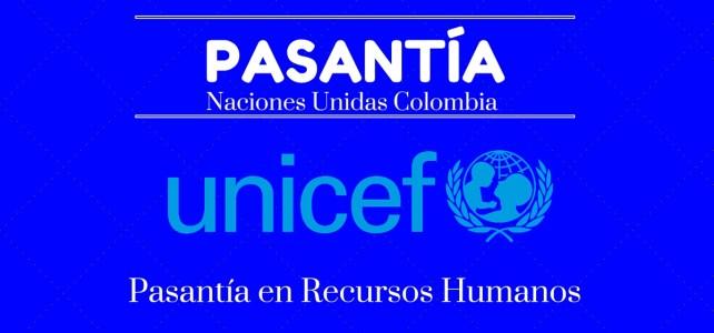 Pasantía con UNICEF Colombia