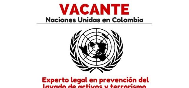 La Oficina de las Naciones Unidas contra la Droga y el Delito abre convocatoria para experto legal