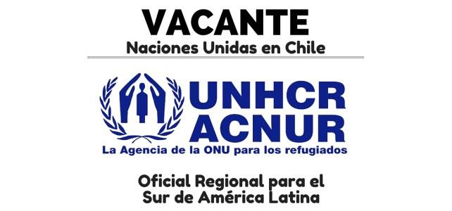 Trabaja con el ACNUR en Chile