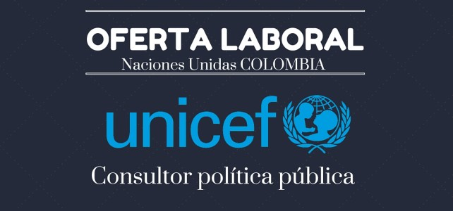 Unicef abre convocatoria laboral en Colombia