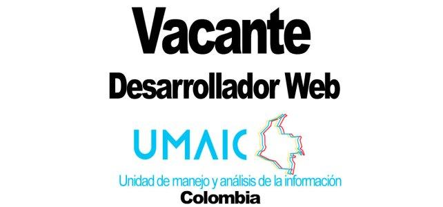 La Unidad de Manejo y Análisis de Información Colombia (UMAIC) de Naciones Unidas busca Desarrollador Web