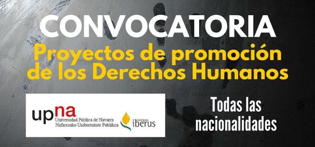 Convocatoria global para proyectos de promoción de los Derechos Humanos