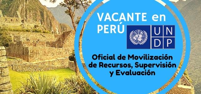 Oportunidad laboral en Perú con las Naciones Unidas -PNUD