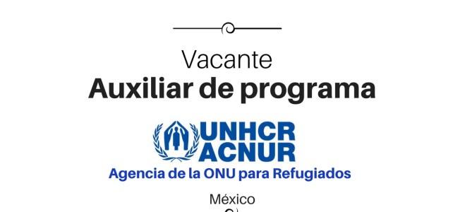 Vacante auxiliar de programa con UNHCR/ACNUR