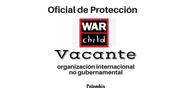 Vacante para el cargo oficial de protección con War Child