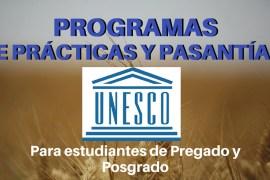 Programas de practicas y pasantias UNESCO
