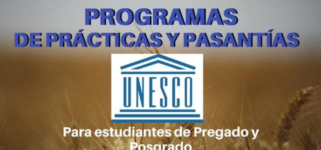 Programas de Prácticas y Pasantías UNESCO