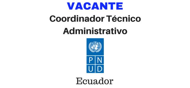 Convocatoria para Coordinación Técnica Administrativa en ONU Ecuador
