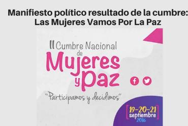 Manifiesto Mujeres Paz