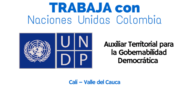 Vacante laboral con el PNUD en Colombia