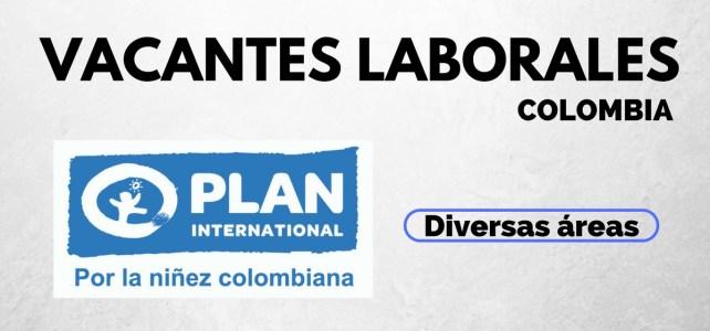 Vacantes laborales con Fundación Plan en Colombia