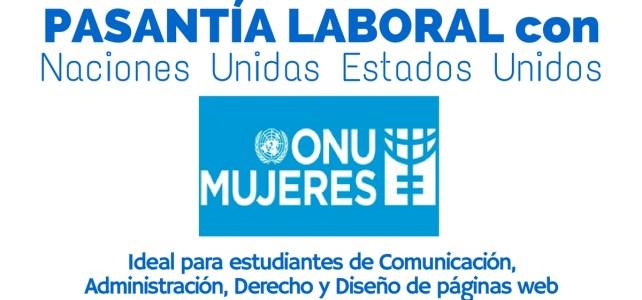 Pasantía laboral con ONU Mujeres
