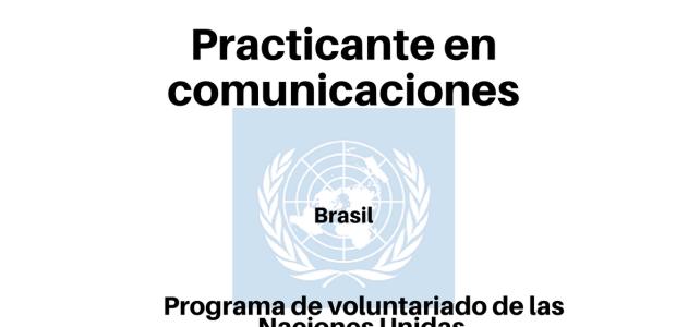 Se busca Practicante en comunicaciones con Naciones Unidas