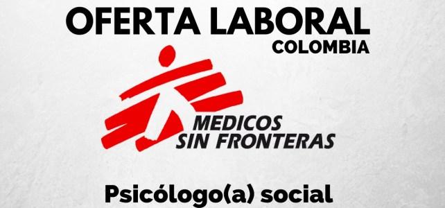 Se abre oferta laboral con Médicos sin Fronteras en Colombia