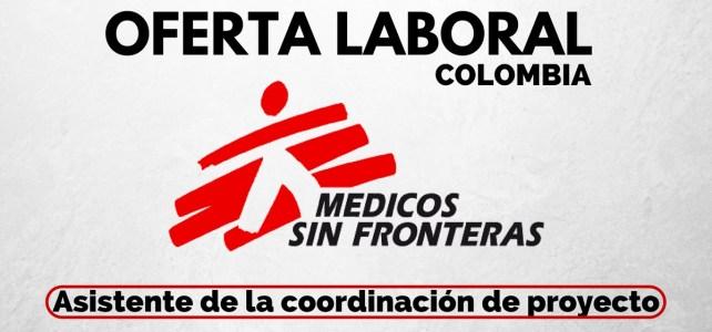 Convocatoria laboral con Médicos sin Fronteras en Colombia