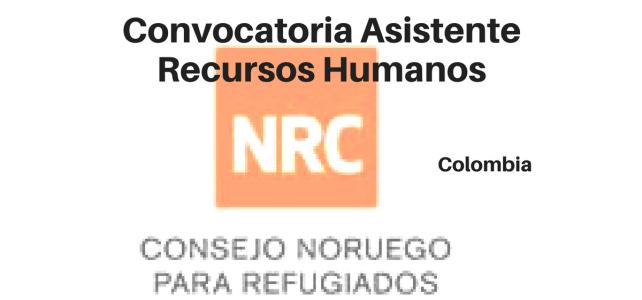 Convocatoria Asistente Recursos Humanos  – NRC
