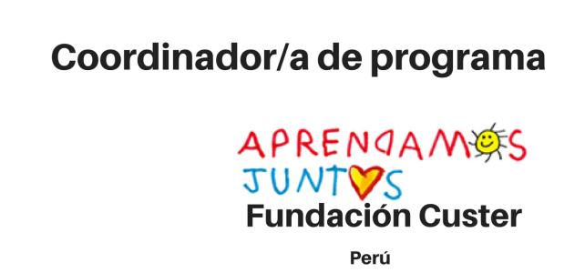 Vacantes – Coordinador(a) de Fundraising y Marca