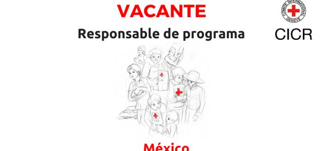 Vacante CICR Responsable de Programa