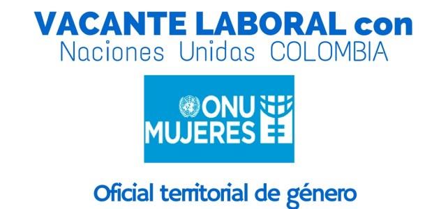 ONU Mujeres abre convocatoria laboral en Colombia: Oficiales territoriales de género