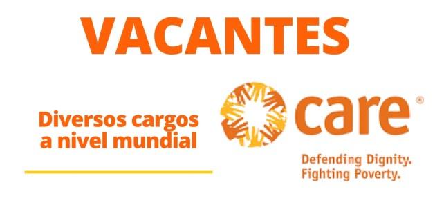Vacantes mundiales con la organización Care International