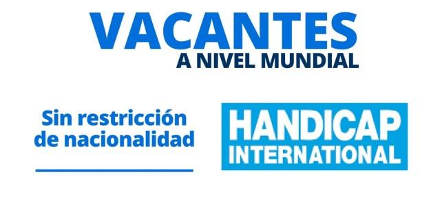 Vacantes laborales con Handicap International