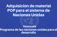Adquisición de material POP para el sistema de Naciones Unidas